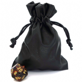 Small Leather Dice Bag